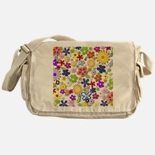 Cute Flower Girly Retro Colorful Flo Messenger Bag