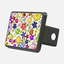 Cute Flower Girly Retro Co Hitch Cover