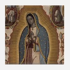 Virgin of Guadalupe. Tile Coaster