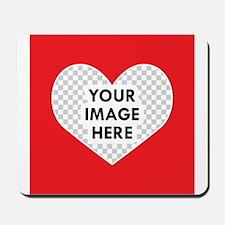 CUSTOM Heart Photo Frame Mousepad