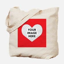 CUSTOM Heart Photo Frame Tote Bag