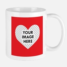CUSTOM Heart Photo Frame Mugs
