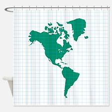 Western Hemisphere Shower Curtain