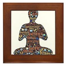 Meditation Framed Tile