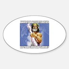 Zeus Sticker (Oval)