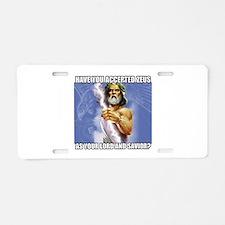 Zeus Aluminum License Plate