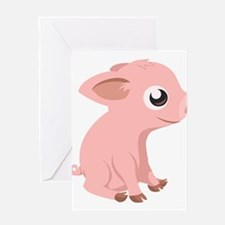 Baby Pig Greeting Cards