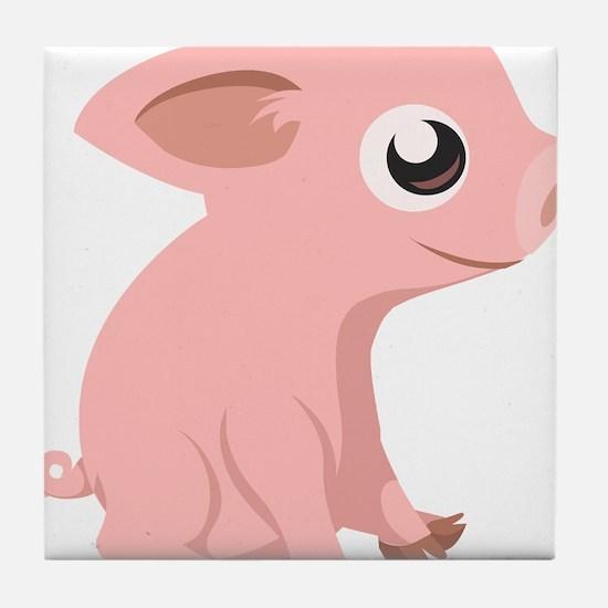 Baby Pig Tile Coaster