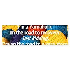 Yarnaholic Car Sticker