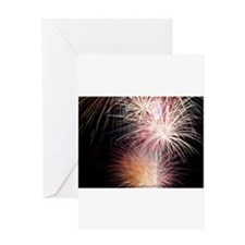 Firework Spark Greeting Cards