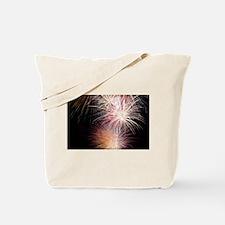 Firework Spark Tote Bag