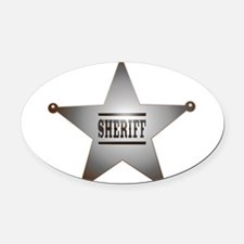 Sheriff Badge Oval Car Magnet