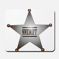 Sheriff Badge Mousepad