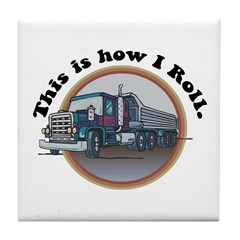 How I Roll (Truck) Tile Coaster