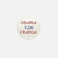 Obama For Change Mini Button (10 pack)