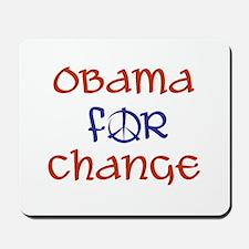 Obama For Change Mousepad
