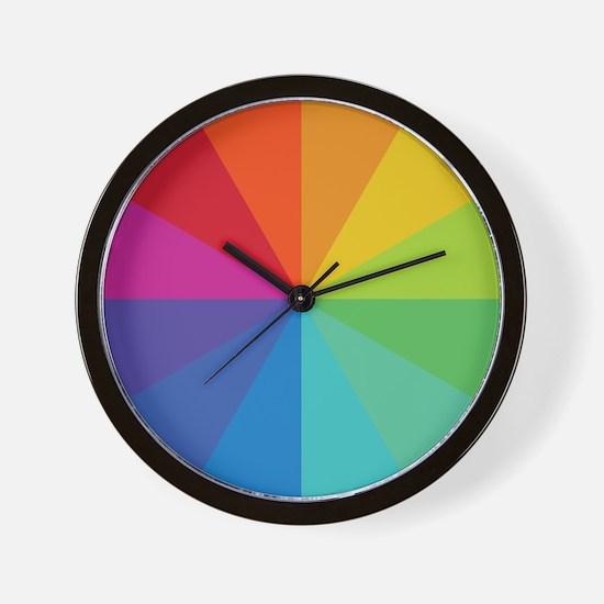Color Wheel Clock Wall Clock