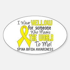 Spina Bifida MeansWorldToMe2 Decal