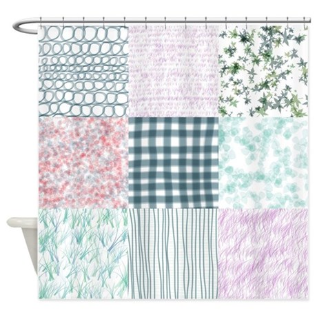 Curtains Ideas Quilt Curtains : Shabby Chic Quilt Shower Curtain By  Simpleshopping