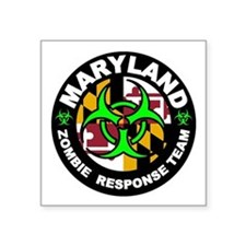 Maryland Zombie Response Team Green Sticker