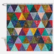 Colorful Diamonds Shower Curtain