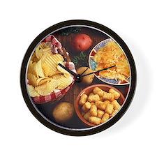 Potato Foods Wall Clock