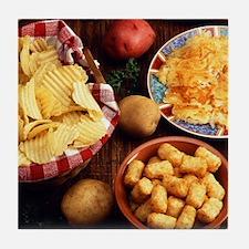 Potato Foods Tile Coaster