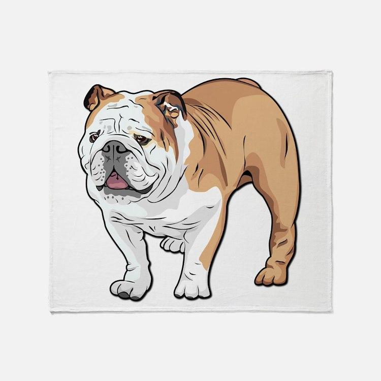 bulldog without text Throw Blanket