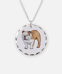 bulldog without text Necklace