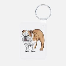 bulldog without text Keychains