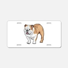 bulldog without text Aluminum License Plate