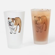 bulldog without text Drinking Glass