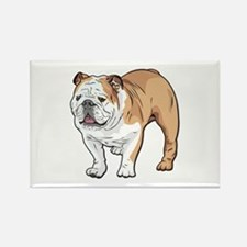 bulldog without text Rectangle Magnet
