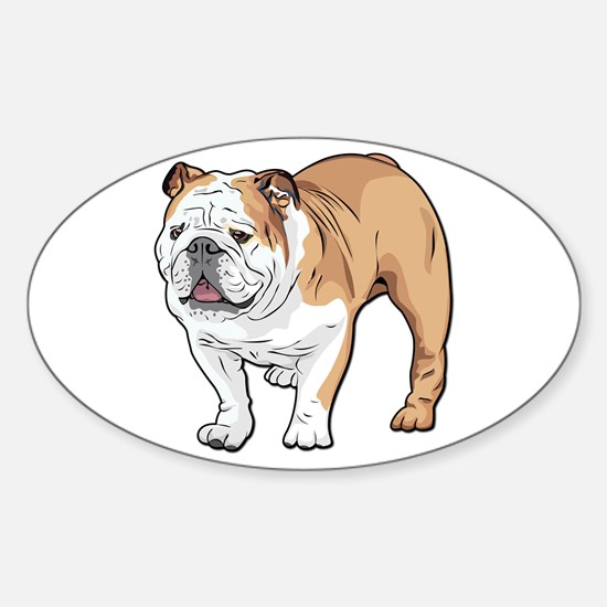 bulldog without text Sticker (Oval)