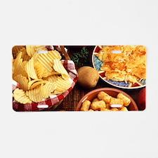 Potato Foods Aluminum License Plate