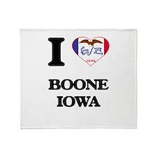 I love Boone Iowa Throw Blanket