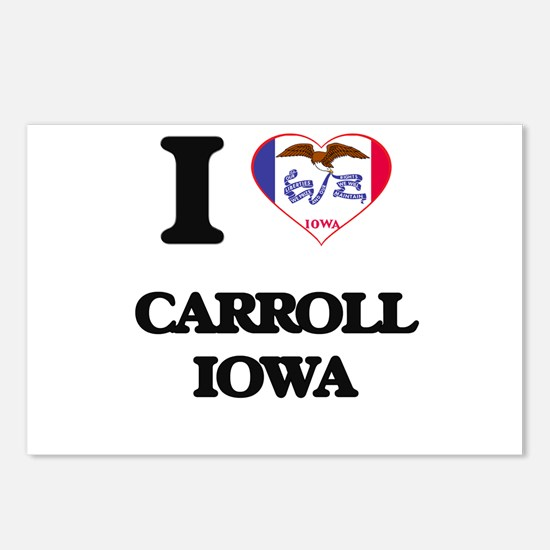 I love Carroll Iowa Postcards (Package of 8)