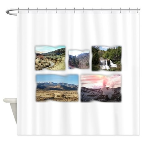 Scenic Route Shower Curtain By Admin Cp123026583