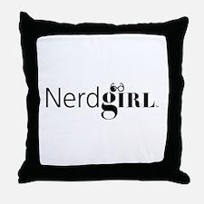 Nerdgirl Throw Pillow