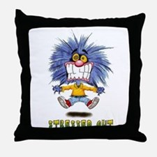 Zoink Stressed Throw Pillow