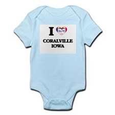I love Coralville Iowa Body Suit