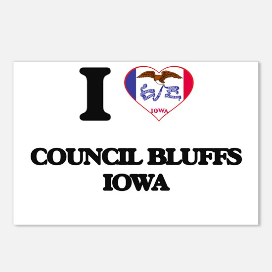 I love Council Bluffs Iow Postcards (Package of 8)