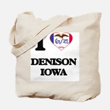 I love Denison Iowa Tote Bag