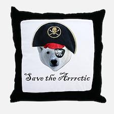 Save the Arrctic Throw Pillow