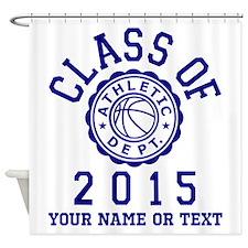 Class Of 2015 Basketball Shower Curtain