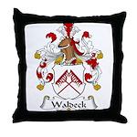 Waldeck Family Crest  Throw Pillow
