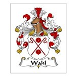 Wahl Family Crest Small Poster