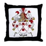 Wahl Family Crest Throw Pillow