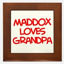 Maddox Loves Grandpa Framed Tile