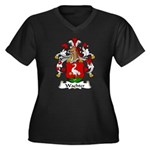 Wachter Family Crest   Women's Plus Size V-Neck Da